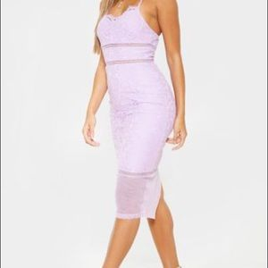 NWT PLT Lilac Illusion Midi Dress A23